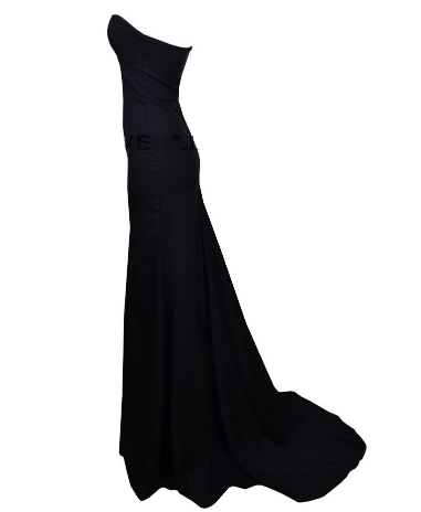 Classic Black Maxi Cocktail Dress Gown