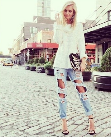 Holey Moley Shredded Boyfriend Jeans