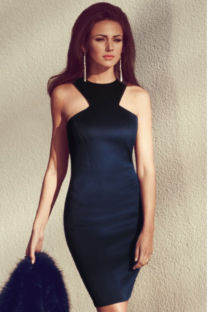 Midnight Wonder Bodycon Midi Dress
