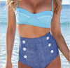 Pretty Dots Sweetheart Retro Pin Up High Waist Bikini Set