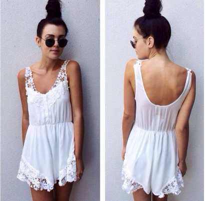 Pretty Floral Lace Romper