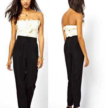 Ruffled Strapless Boob tube Jumpsuit