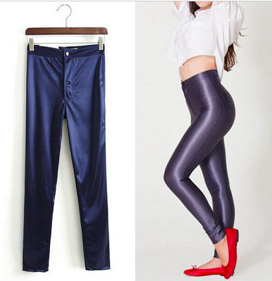 High Waist Skinny Disco Pants