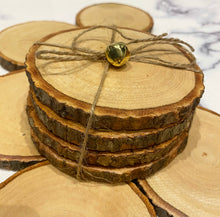 Load image into Gallery viewer, Natural Wooden Coasters