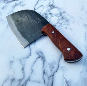 Cutlery Luxury 'Rosé Carbon' - Meat Cleaver - High Carbon Steel