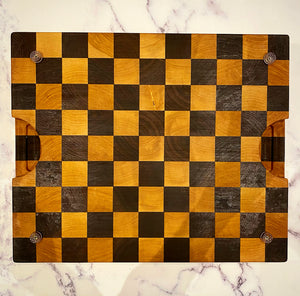 Maple and Walnut Checkered Chopping Board - Cutlery Luxury