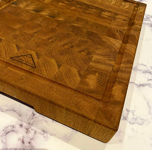 White Oak End Grain Chopping Board - Cutlery Luxury