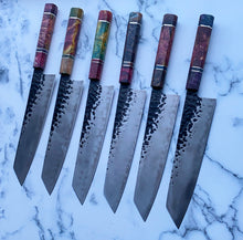Load image into Gallery viewer, Cutlery Luxury - Technicoloured Carbon Drip Kiritsuke Knife