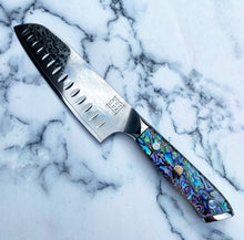 Load image into Gallery viewer, Abalone Pāua Santoku Kitchen Knife