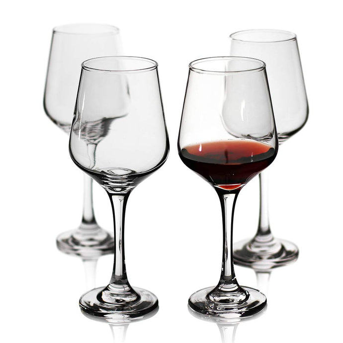 Wine Glasses Set of 4,Durable Red Wine Glasses for Bordeaux/Cabernet,Thick Resistant White Wine Glasses for Housewarming,Wedding,Anniversary,15oz Red wine set