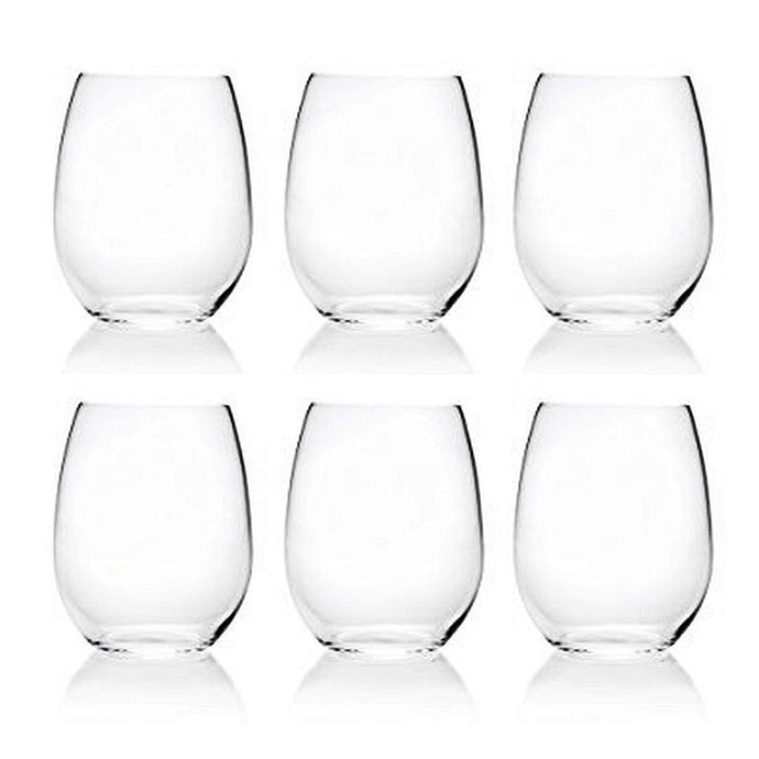 18-ounce Acrylic Glassses Stemless Wine Glasses, set of 6 Clear - Unbreakable, Dishwasher Safe, BPA Free…