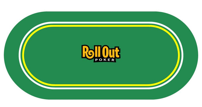 Roll Out Gaming No-Slip Rubber Foam Casino Table Top Layout Poker Table Top