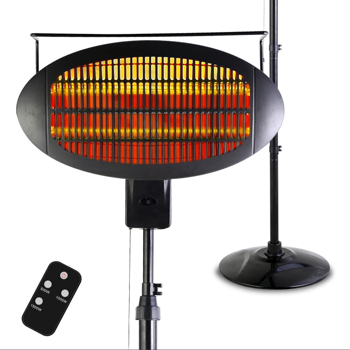 Optimus Garage-Outdoor Floor Standing Infrared Patio Heater with Remote DSV