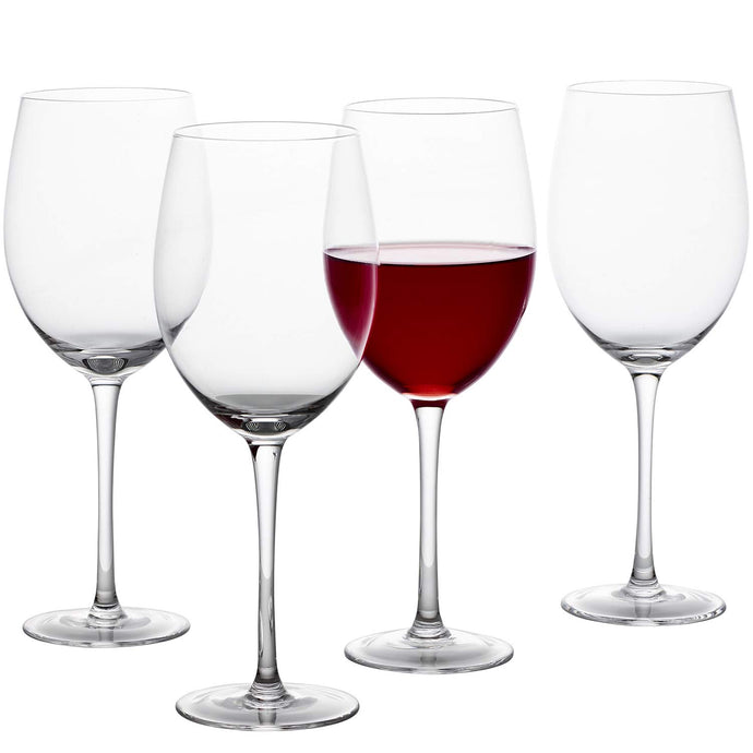 GoodGlassware Wine Glasses (Set Of 4) 19 oz - Crystal Clear Clarity, Classic Tall Stem Bowl Design Perfect for Red and White Wines - Lead Free Glass, Dishwasher Safe, Quality All-Purpose Stemware