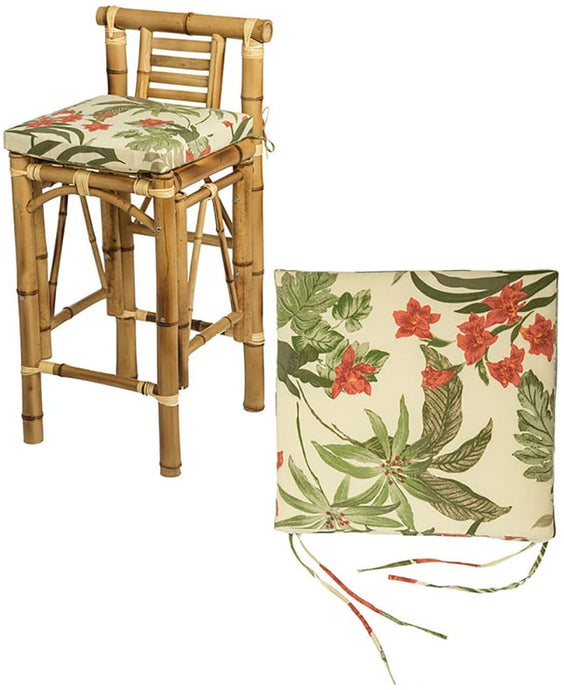 Set of Two Tiki Barstool Cushions - Beige