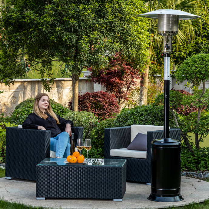 Legacy Heating Standing Patio Heater, hammered black