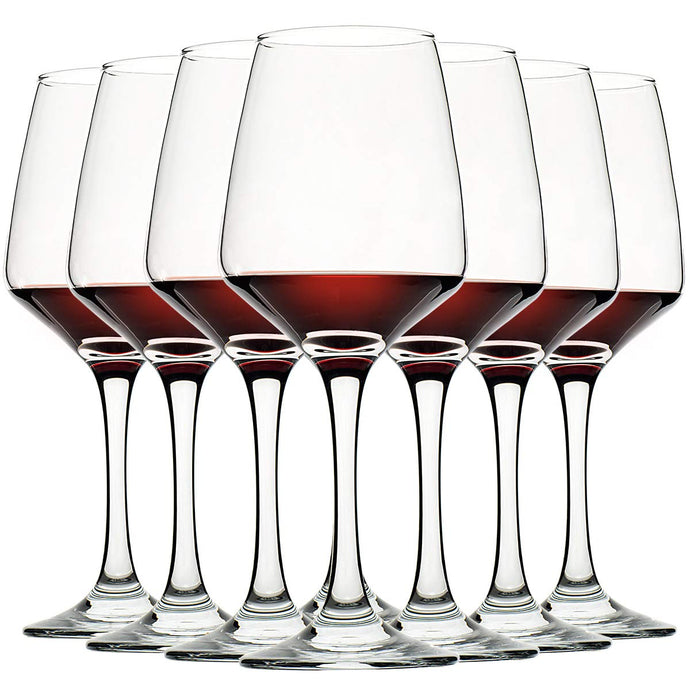 Wine Glasses Set of 8, 12oz, Lead-free, Clear, Durable Glassware 12 Oz, Set of 8