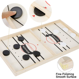 "ANT MARCH Sling Foosball Fast Sling Puck Game Large Size with Extra 10 Pucks for Spare Use, Portable Slingpuck Board Game for Child, Foosball Slingshot Game Board Large Size, 21.5""*11.5"""