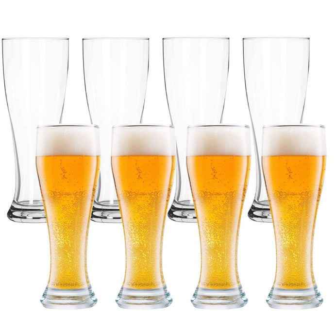 Pilsner Glasses, 16 oz Beer Glasses Set of 8