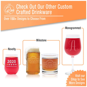 4 Piece Beer Can Glass Set- 16 Oz- On The Rox Drinks