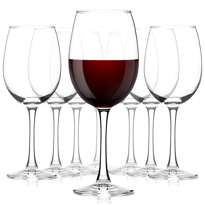 Crystal Wine Glasses Set of 8, 12 Ounce Red Wine Glasses, Clear Hand-Blown Stemware for Wedding, Party, Resturant, Lead-Free