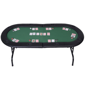 Foldable 8 Player Poker Table Casino Texas Hold'em Play Table Holdem Card Game TY310280