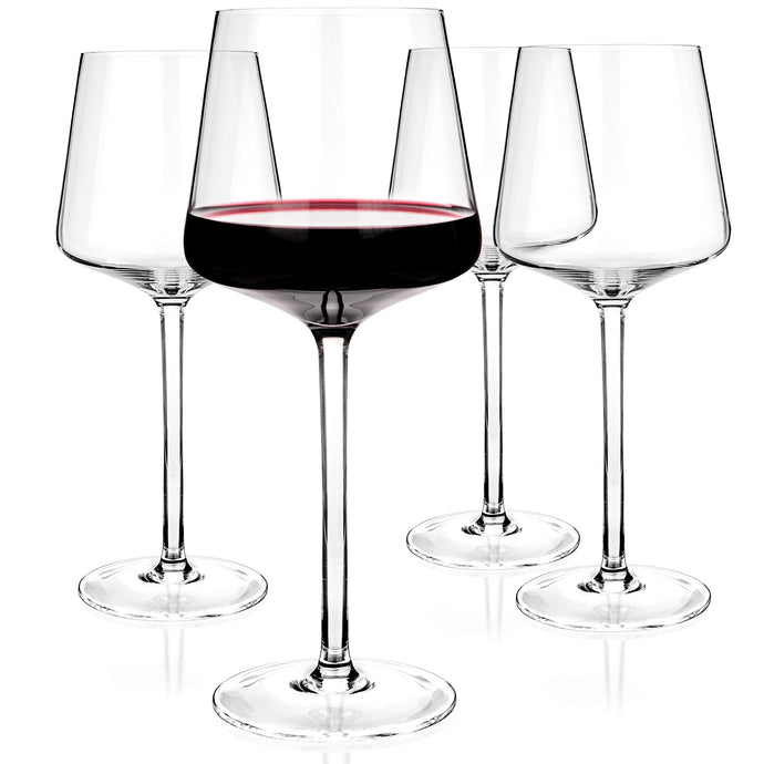 Luxbe - Crystal Wine Glasses 20.5-ounce, Set of 4 - Red Wine Large Glasses - 600ml V1.1