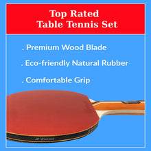 Load image into Gallery viewer, JP WinLook Ping Pong Paddle - 4 Player Pack; Pro Premium Table Tennis Racket Set; Good Spin; 8 Professional Game Balls; Accessories Racquets Bat Bundle Kit; Portable Cover Case; Indoor Outdoor
