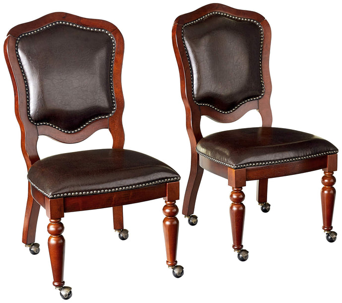 Sunset Trading Bellagio Caster Set of 2 Game-Dining Chairs, Wheels