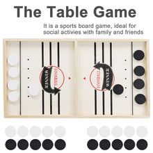 "Load image into Gallery viewer, ANT MARCH Sling Foosball Fast Sling Puck Game Large Size with Extra 10 Pucks for Spare Use, Portable Slingpuck Board Game for Child, Foosball Slingshot Game Board Large Size, 21.5""*11.5"""