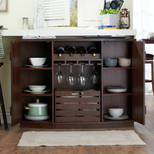 Load image into Gallery viewer, Furniture of America Harris Multi-Storage Buffet, Vintage Walnut