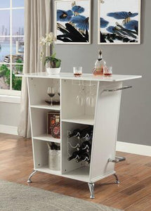 Glemma Contemporary Bar in White