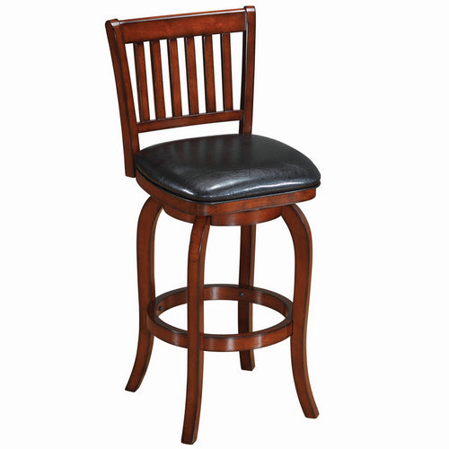 Backed Barstool Square Seat - English Tudor