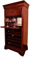 Load image into Gallery viewer, Bar Cabinet With Wine Rack - English Tudor