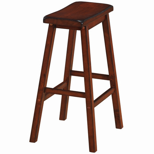 Backless Saddle Barstool - Cappuccino