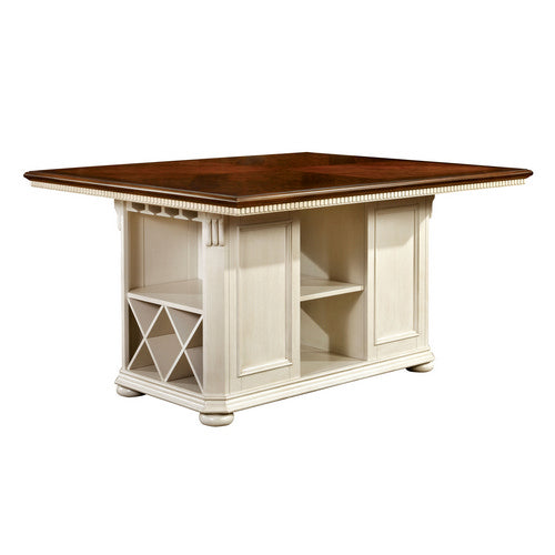 Barbara Cottage Pub Table in White and Cherry