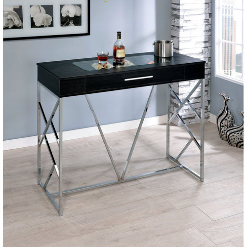 Corinne Contemporary Wine Storage Bar Height Table