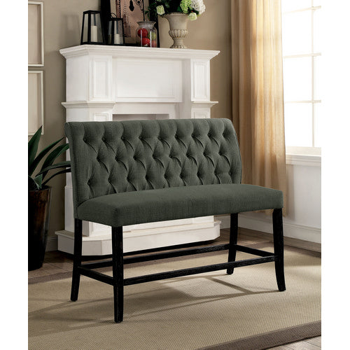 Gracie Contemporary Button Tufted Counter Height Bench