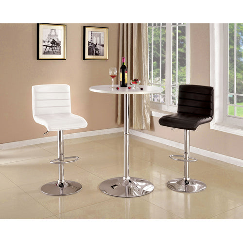 Morgan Contemporary Bar Stool in White