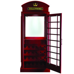 Old English Telephone Booth Bar Cabinet