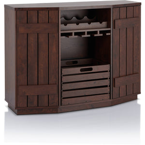 Furniture of America Harris Multi-Storage Buffet, Vintage Walnut