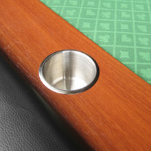 Load image into Gallery viewer, IDS POKER Poker Table for 10 Players Oval 96 x 43 Inch Racetrack Cup Holders Green Speed Cloth Stainless Pedestal Base