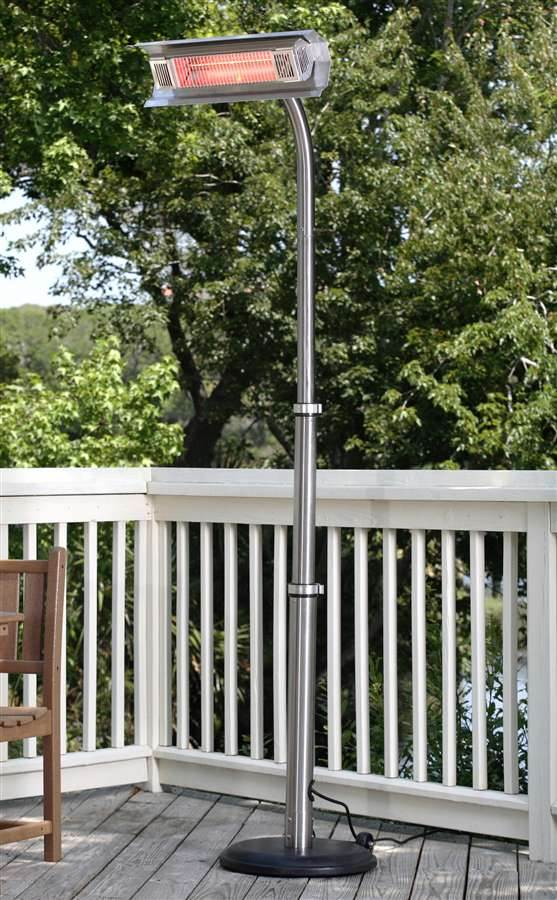 Fire Sense Stainless Steel Telescoping Offset Pole Mounted Infrared Patio Heater 1