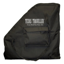 "Load image into Gallery viewer, TEXAS TRAVELER - Table Top & 300 Chip Travel Set Black 4"" x 24"" x 24"""