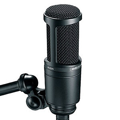 Audio-Technica AT2020 Cardioid Condenser Microphone (Black)