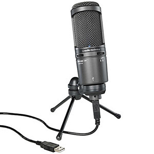 Audio-Technica AT2020USB+ USB Cardioid Condenser Microphone (Black)