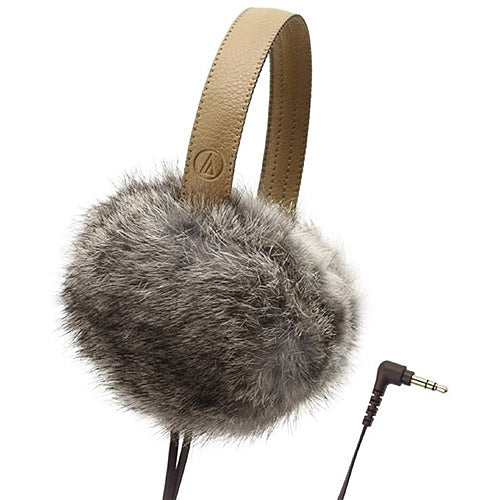 Audio-Technica ATH-FW55 Earmuff Headphones (Brown) (Grey)
