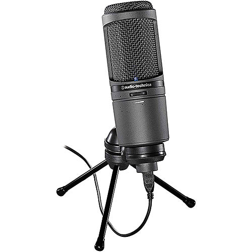 Audio-Technica AT2020USBi Condenser USB Microphone with Lightning Cable (Black)