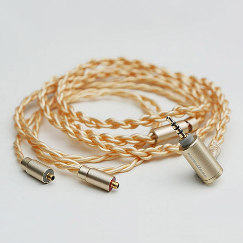 Acoustune ARC73 4.4mm Balanced 16 core Silver Coated OFC PentaconnEar Re-Cables (Gold)