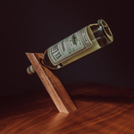 Mahogany Balanced Bottle Holder - Thin